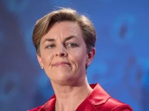 Kellie Leitch speaking during the Conservative leadership debate.