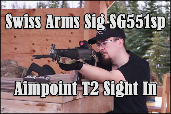 Sighting in the Aimpoint Micro T2 on the Swiss Arms SG551sp.