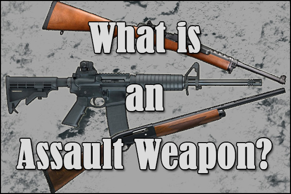 "All three firearms pictured are semi-automatic, so is one an ""assault weapon""?"
