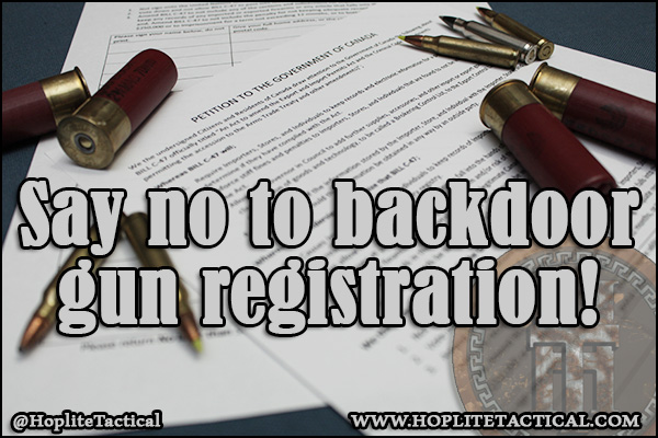 Print and sign the petition against backdoor gun registration.
